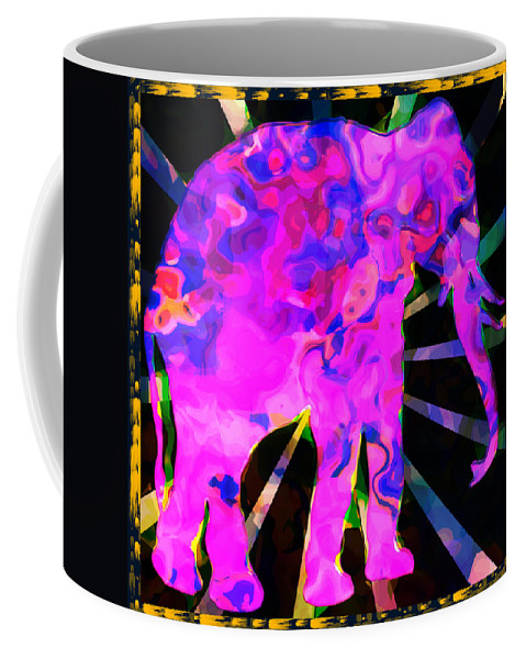 Elephant Coffee Mug featuring the photograph Pink Elephant Abstract by David G Paul