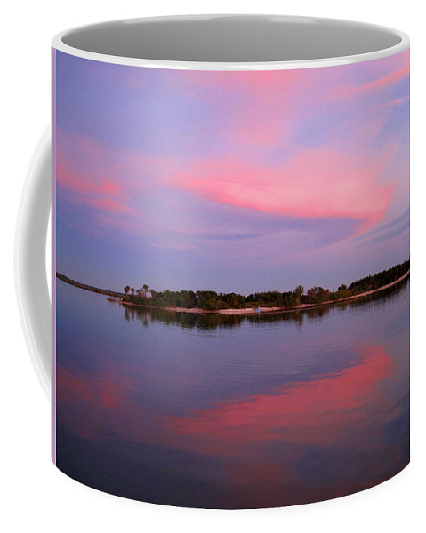 Sunset Coffee Mug featuring the photograph Pink Evening by Susanne Van Hulst