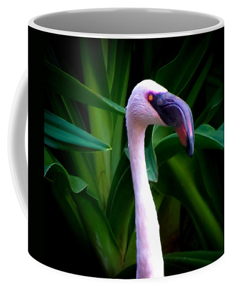 Pink Flamingos Coffee Mug featuring the photograph Pink Flamingo Bliss by Karen Wiles