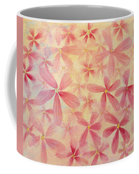 Pink Flowers Coffee Mug featuring the painting Pink Flowers by Diane Macdonald
