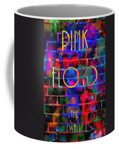 Pink Floyd The Wall Coffee Mug featuring the painting Pink Floyd The Wall by Dan Sproul