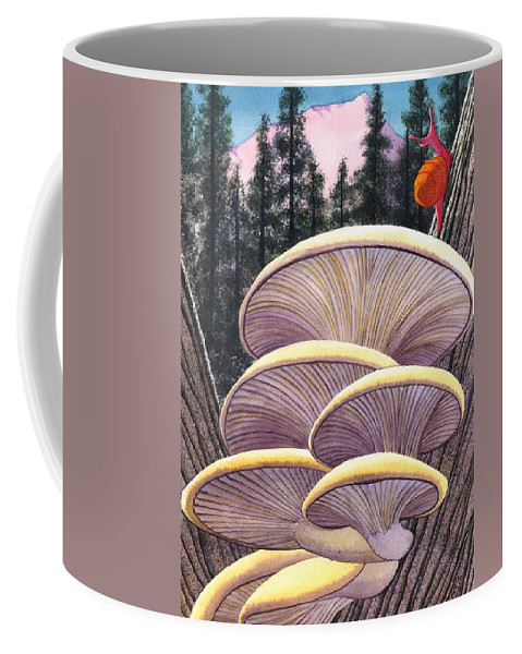 Mushrooms Coffee Mug featuring the painting Pink Like Me by Catherine G McElroy