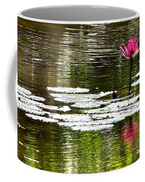 Lily Coffee Mug featuring the photograph Pink Lily 12 by Lisa Renee Ludlum