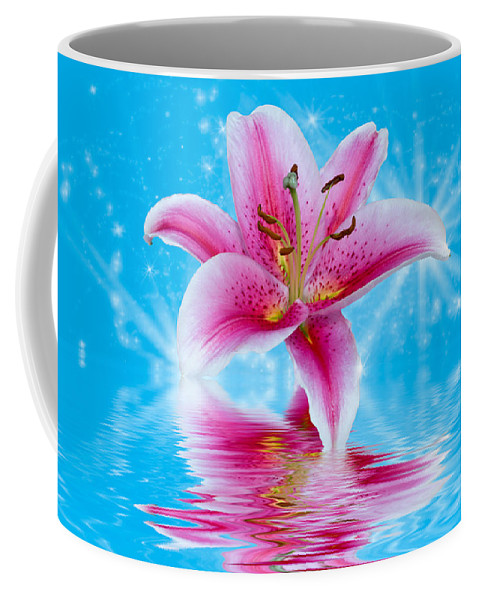 Pink Lily Coffee Mug featuring the photograph Pink Lily by Keri Harrish