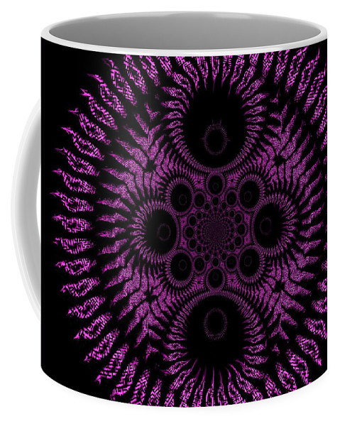 Spiral Coffee Mug featuring the digital art Pink Madness by Charleen Treasures
