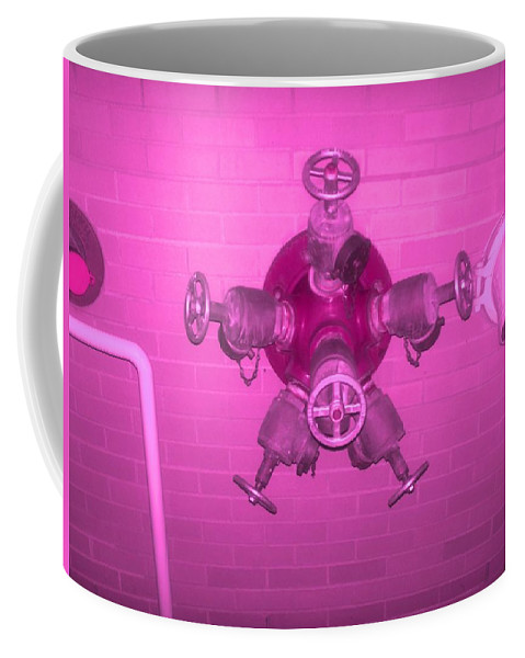 Photograph Coffee Mug featuring the photograph Pink Male Pipe by Thomas Valentine
