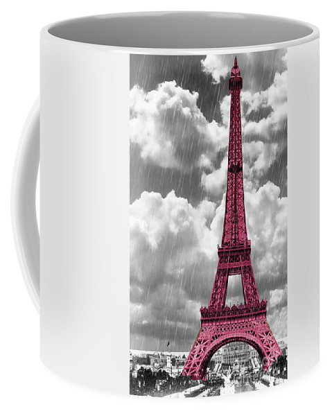 Eiffel Tower Coffee Mug featuring the painting Pink Paris by Mindy Sommers