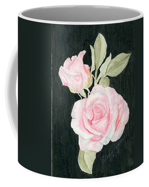 Pink Roses Coffee Mug featuring the painting Pink Passion by Alexis Grone