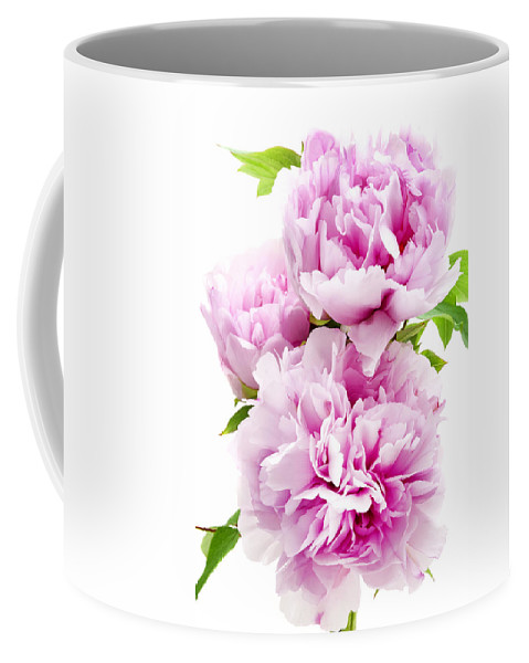 Pink Coffee Mug featuring the photograph Pink Peony by Fabrizio Troiani