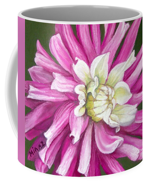 Floral Coffee Mug featuring the painting Pink Petal Blast by Minaz Jantz