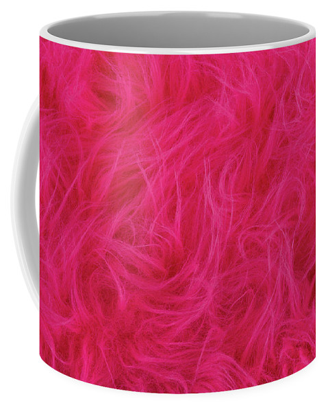 Plush Coffee Mug featuring the photograph Pink Plush Fabric by Peter Hermes Furian