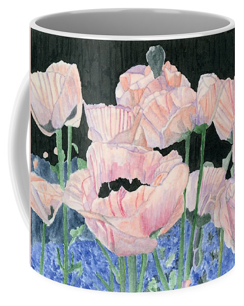 Pink Poppies Coffee Mug featuring the painting Pink Poppies by Alexis Grone