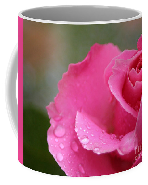 Rose Coffee Mug featuring the photograph Pink Rose After The Rain by Melanie Rainey