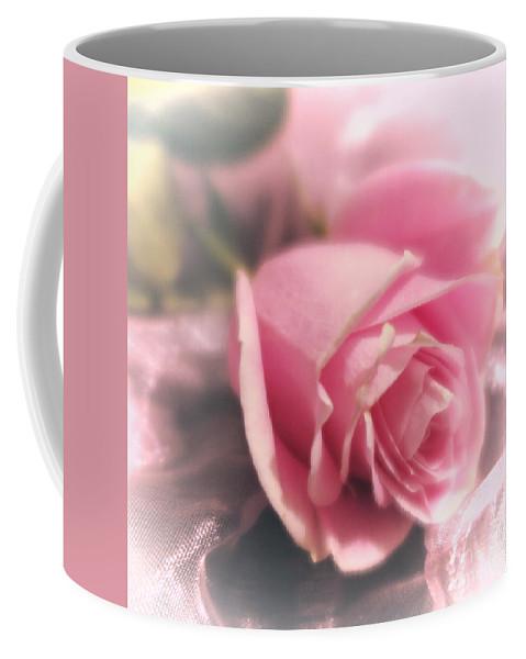 Floral Coffee Mug featuring the photograph Pink Rose Macro Abstract 1 by Tara Shalton
