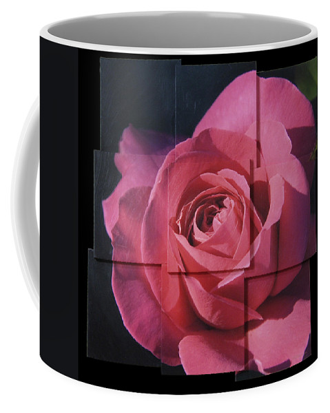 Rose Coffee Mug featuring the sculpture Pink Rose Photo Sculpture by Michael Bessler