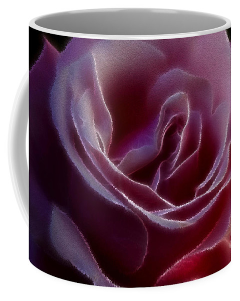 Rose Coffee Mug featuring the photograph Pink Rose Portrait by Deborah Benoit