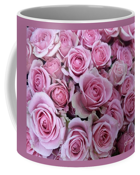 Roses Coffee Mug featuring the photograph Pink Roses by Voncille Smith