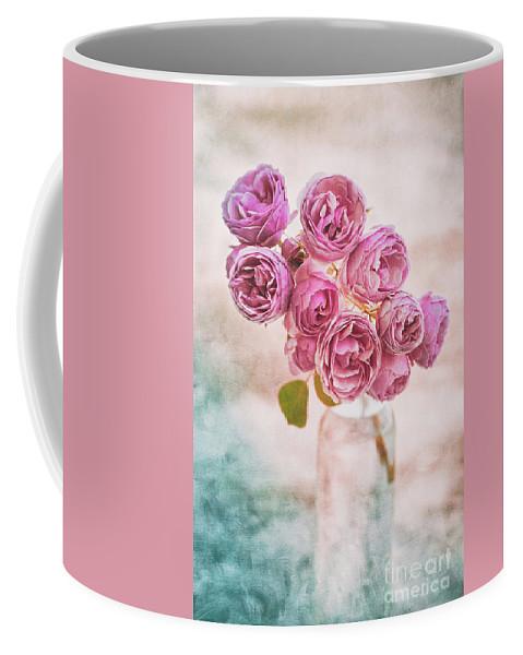 Roses Coffee Mug featuring the photograph Pink Roses Beauty by Alenka Krek