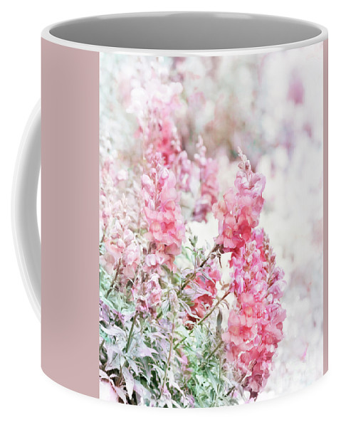 Floral Coffee Mug featuring the digital art Pink Snapdragons Watercolor by Svetlana Foote