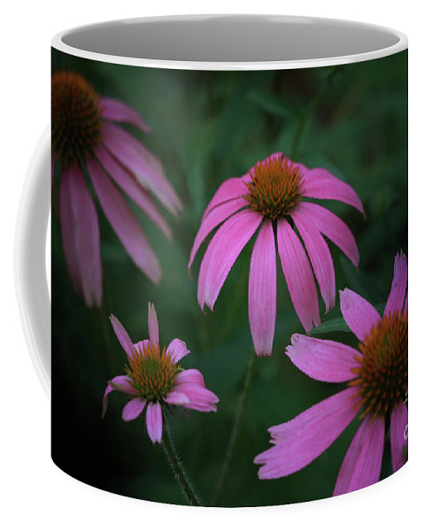 Pink Flowers Coffee Mug featuring the photograph Pink Spray by Kim Henderson