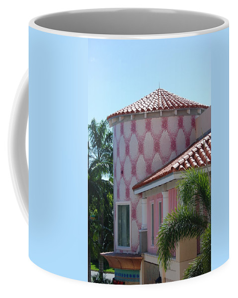 Architecture Coffee Mug featuring the photograph Pink Tower by Rob Hans