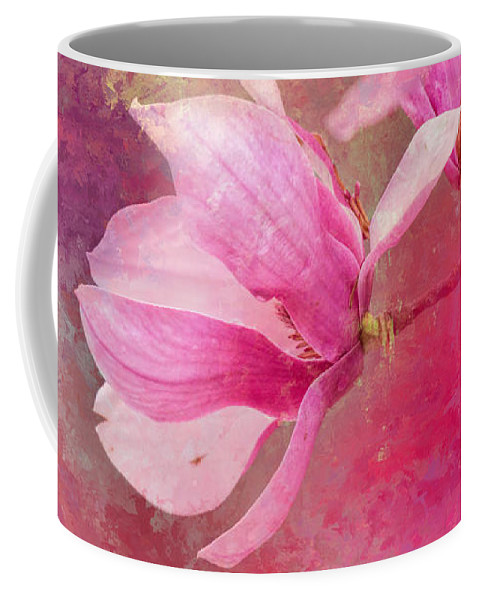 Jai Johnson Coffee Mug featuring the photograph Pink Tulip Magnolia In Spring by Jai Johnson