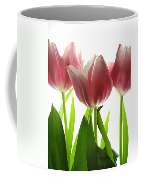 Tulip Coffee Mug featuring the photograph Pink Tulips by Jane Linders