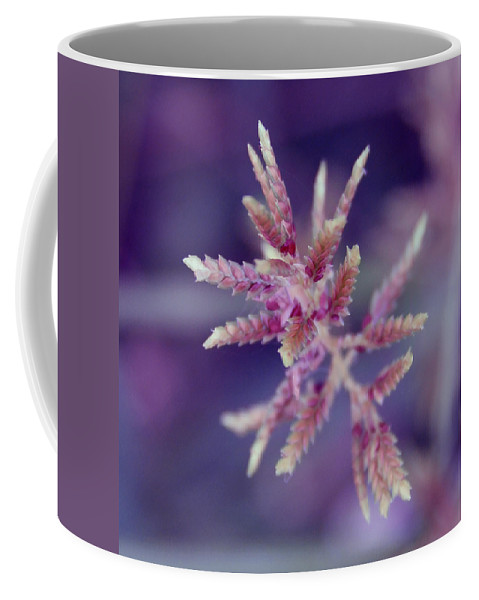 Nature Coffee Mug featuring the photograph Pink Weed by Linda Sannuti