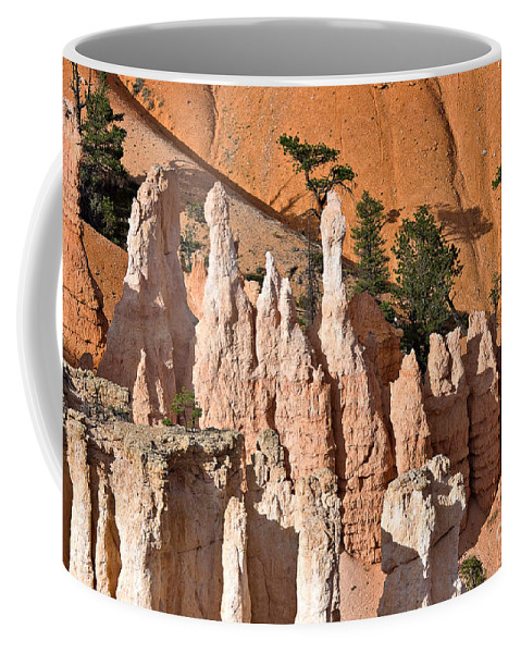 Landscape Coffee Mug featuring the photograph Pinnacles And Fins At Sunset Point by Louise Heusinkveld