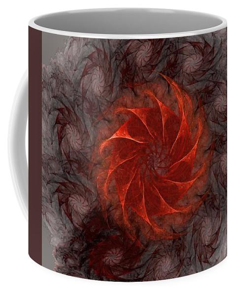 Fantasy Coffee Mug featuring the digital art Pinwheel by David Lane