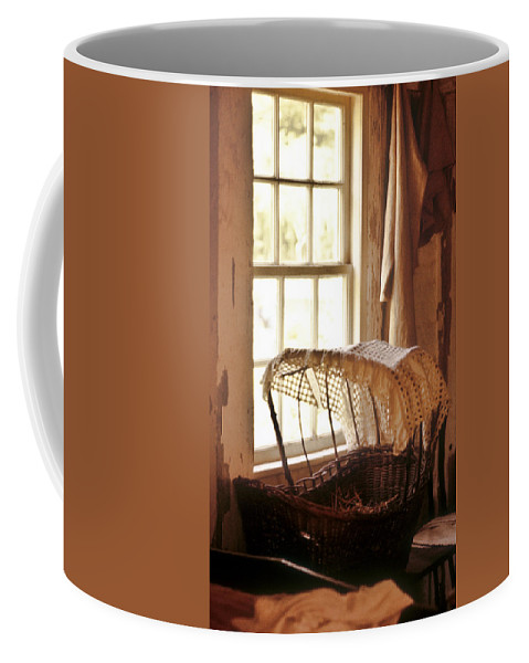 Pioneer Coffee Mug featuring the photograph Pioneer Baby Bassinet by Douglas Barnett
