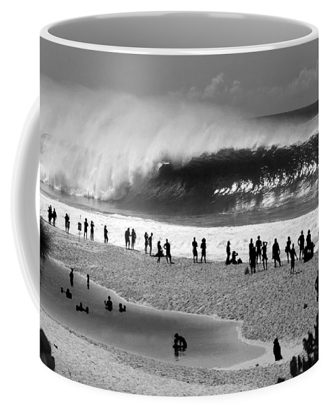 Surf Art Coffee Mug featuring the photograph Pipe Frenzy by Sean Davey