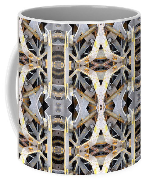 Abstract Coffee Mug featuring the digital art Pipe Hanger by Ron Bissett