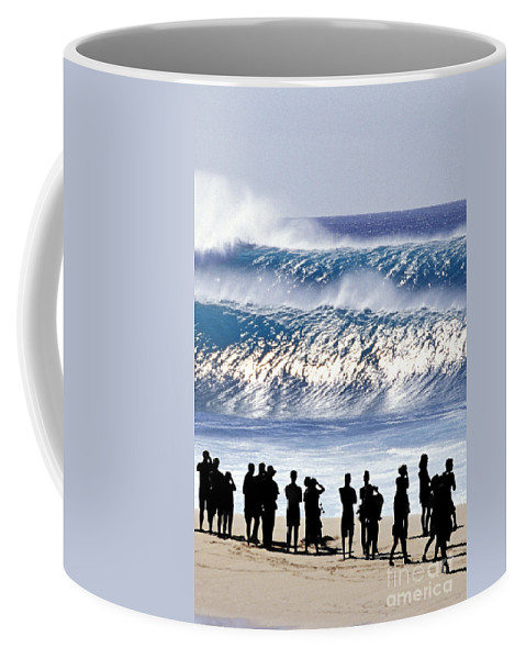 Big Waves Coffee Mug featuring the photograph Pipeline Shadow Land - 2 Of 3 by Sean Davey