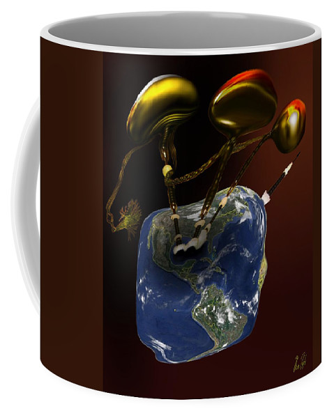 Piper Coffee Mug featuring the digital art Piper's Last Holes by Helmut Rottler
