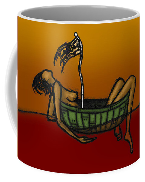 Pirate Coffee Mug featuring the digital art Pirate by Kelly Jade King