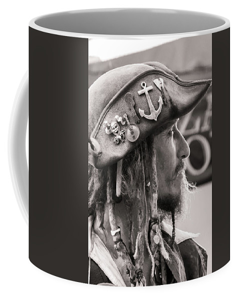 Pirate Coffee Mug featuring the photograph Pirate Profile by Jim Cole