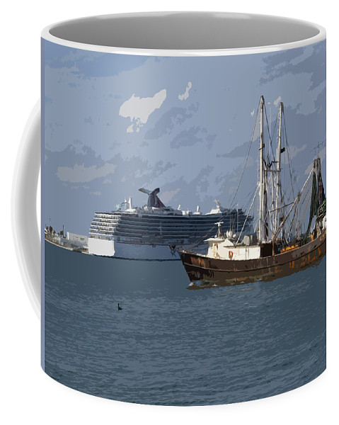 Boat Coffee Mug featuring the painting Pirate Two by Allan Hughes