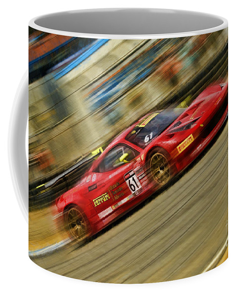Pirelli World Challenge Coffee Mug featuring the photograph Pirelli World Challenge Olivier Beretta Ferrari 458 Gt3 Italia by Blake Richards