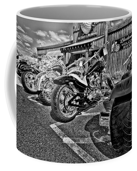 Motor Cycle Coffee Mug featuring the photograph Pit Stop by Ches Black
