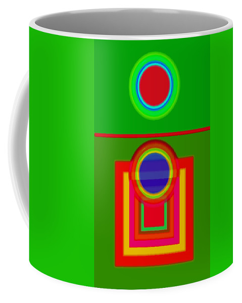 Classical Coffee Mug featuring the painting Pitch by Charles Stuart