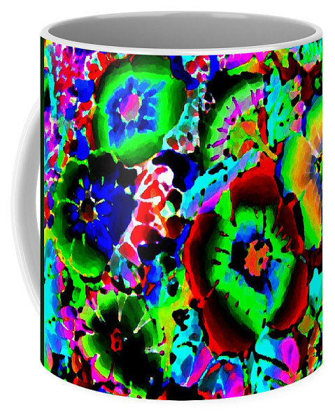 Abstract Coffee Mug featuring the digital art Pizzazz 15 by Will Borden
