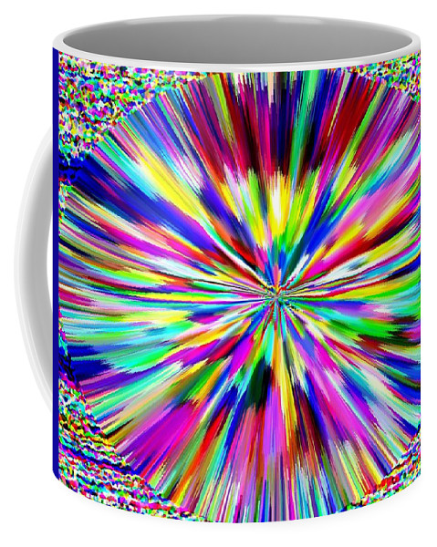 Abstract Coffee Mug featuring the digital art Pizzazz 19 by Will Borden