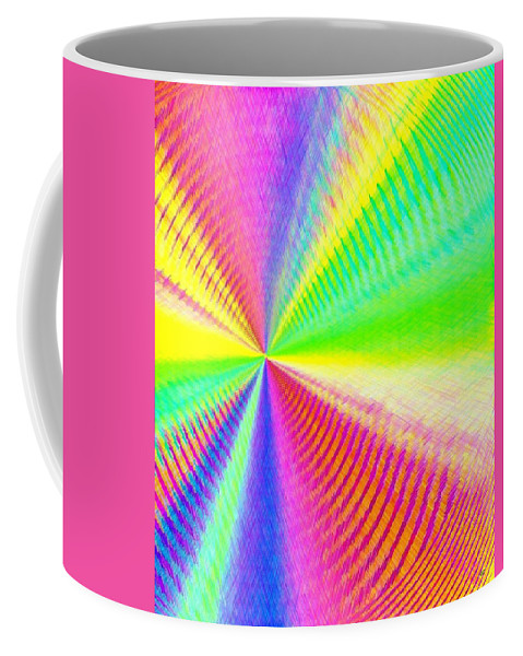 Abstract Coffee Mug featuring the digital art Pizzazz 24 by Will Borden