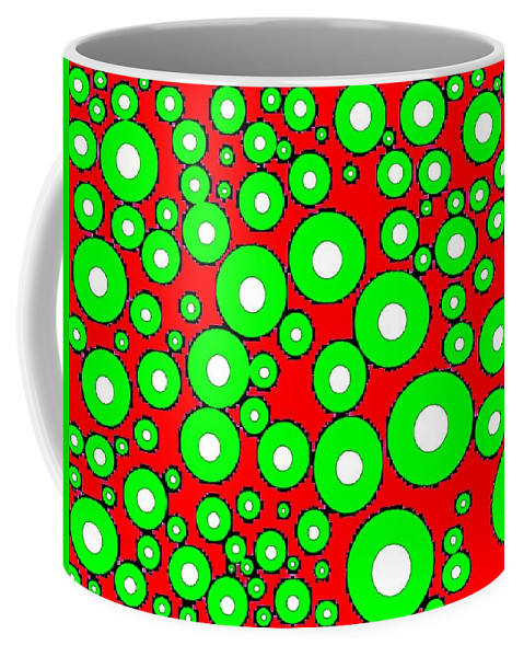 Abstract Coffee Mug featuring the digital art Pizzazz 5 by Will Borden