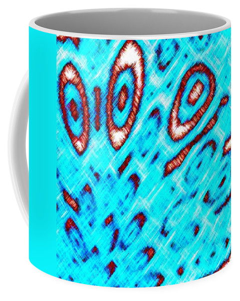 Abstract Coffee Mug featuring the digital art Pizzazz 6 by Will Borden