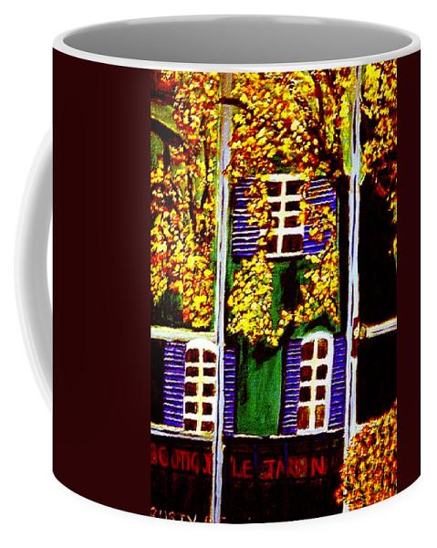 Paris Coffee Mug featuring the painting Place De La Paix by Rusty Gladdish