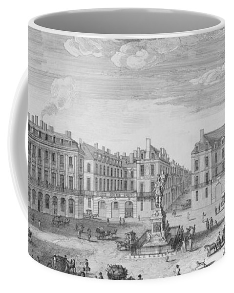Place Des Victoires Coffee Mug featuring the drawing Place Des Victoires by Jacques Rigaud