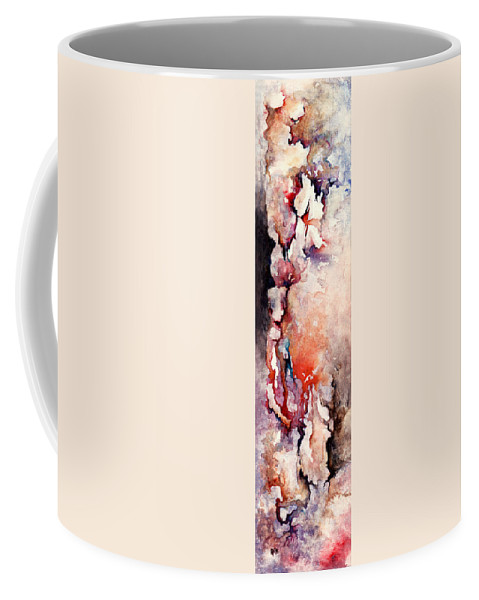 Abstract Coffee Mug featuring the painting Places In The Heart by Rachel Christine Nowicki