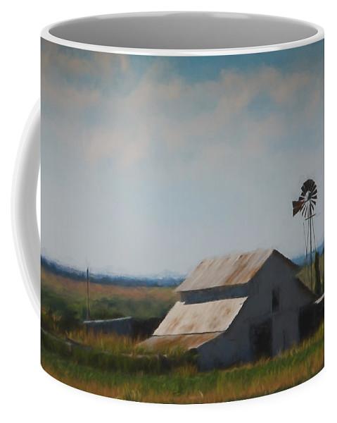 Barn Coffee Mug featuring the painting Plains Painted Barn by Jonas Wingfield